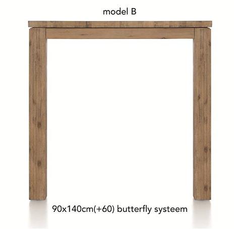 A La Carte, table de bar a rallonge 140 (+ 60) x 90 cm - BEN-1