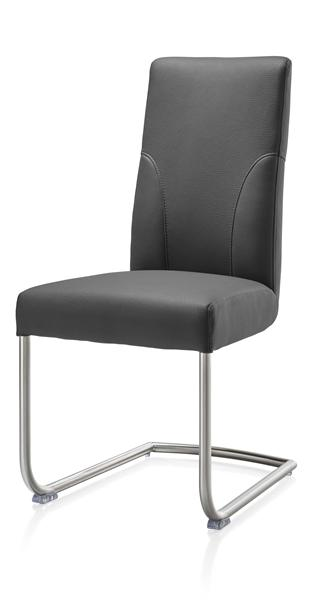 Travis, dining chair stainless steel + leatherlook Tatra-1