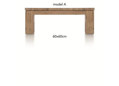 table basse en bois la carte 60x60 cm. Black Bedroom Furniture Sets. Home Design Ideas