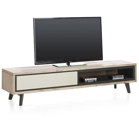 Jade, meuble tv 1-porte rabattante + 1-niche - 180 cm-1