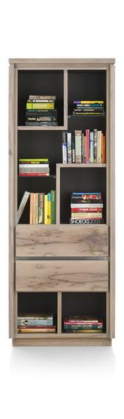 Ermont, bibliotheque 2-tiroirs + 7-niches - 70 cm-1