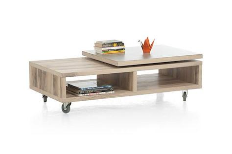 Ermont, table basse 120 x 60 cm + plateau pivotant-1