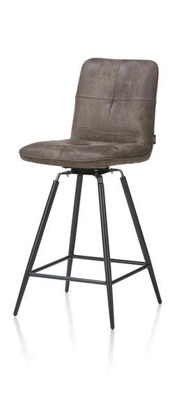 Milan, chaise de bar pivotante - pied noir-1