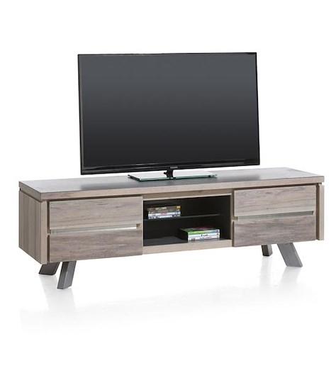 Ermont, meuble tv 1-tiroir + 1-porte rabattante + 2-niches - 160 cm-1