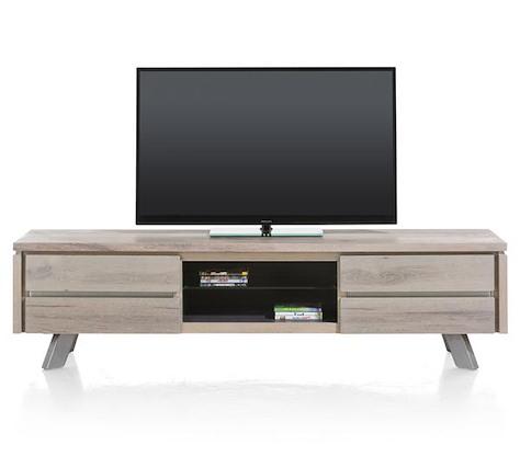 Ermont, meuble tv 1-tiroir + 1-porte rabattante + 2-niches - 190 cm-1