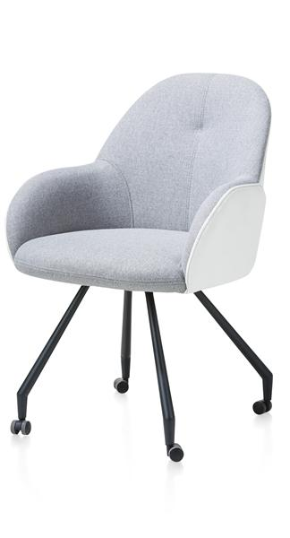 Clarissa, dining armchair with wheels - combi Gibson / Moreno-1