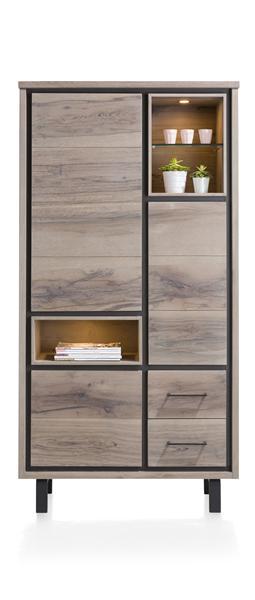 Eivissa, armoire 3-portes + 2-tiroirs + 3-niches (+ LED)-1