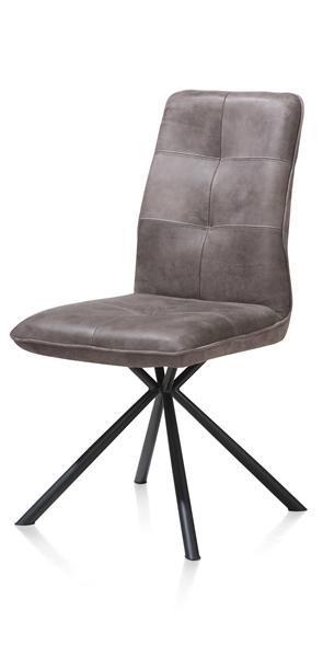 Milan leder, dining chair - black frame-1
