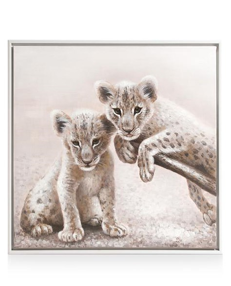 peinture Twins - 85 x 85 cm-1