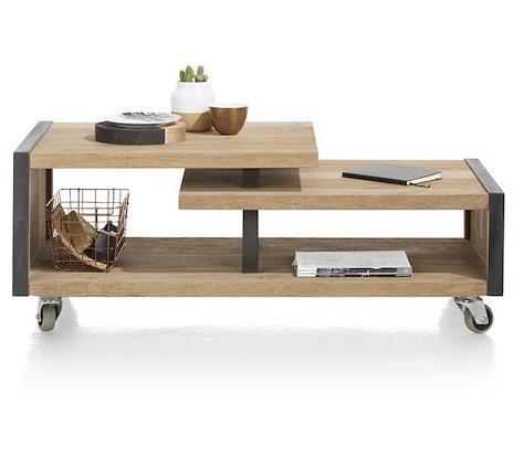 Metalo, coffee table 120 x 60 cm + 1-niche-1
