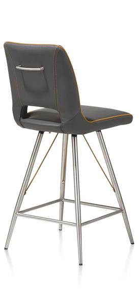 Duncan, barchair stainless steel Tatra antracite or Tatra charcoal +Accent-1