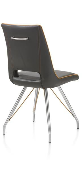 Duncan, chair stainless steel Tatra antracite or Tatra charcoal +Accent-1