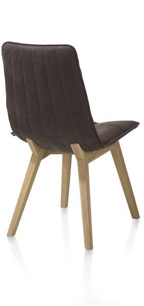 Lisa, dining chair - beech cigar brown - Kibo cognac / coffee-1