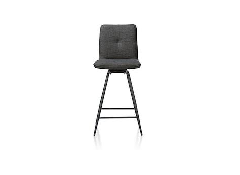 Chaise de bar pivotante - pieds noirs, Milva