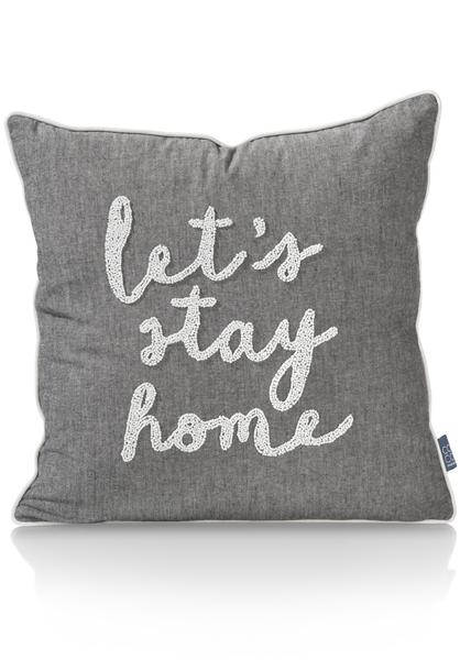 cushion Stay Home - 45 x 45 cm-1