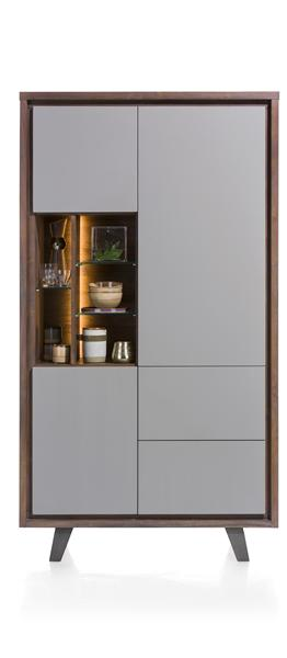 Box, cabinet 3-doors + 2-drawers + 5-niches - 110 cm (+ LED)-1