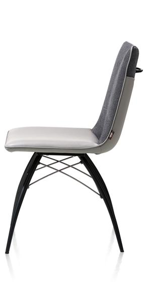 Kyle, dining chair - metal off black + grip - Tatra/Miami combi-1