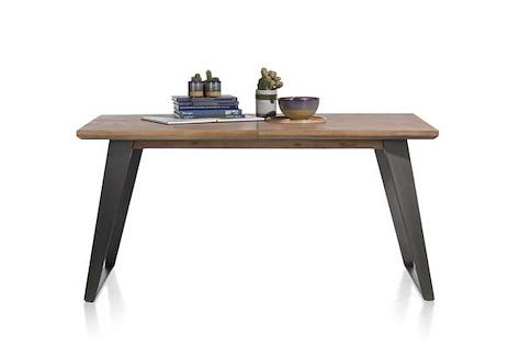 Box, table a rallonge 160 (+ 50) x 100 cm - pied carre-1