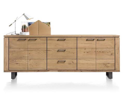 Quebec, sideboard 4-doors + 3-drawers - 240 cm-1