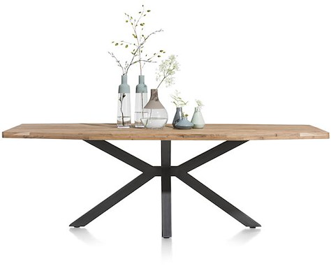 Quebec, dining table 240 x 110 cm - metal leg-1