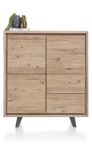 Box, cabinet 3-doors + 2-drawers - 125 cm-1