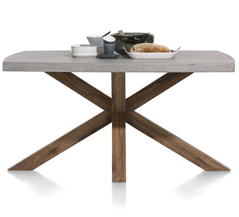 Maestro, dining table 150 x 130 cm - concrete top-1