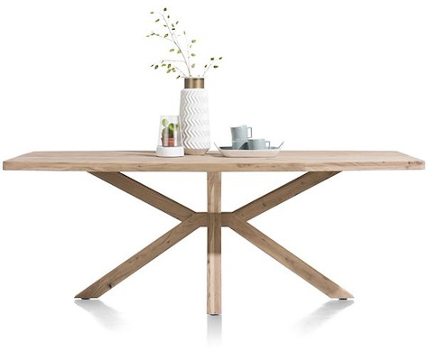 Quebec, dining table 210 x 100 cm - wooden leg-1
