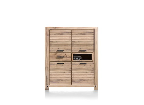 maitre armoire 4 portes 1 tiroir 1 niche 140 cm led spot. Black Bedroom Furniture Sets. Home Design Ideas