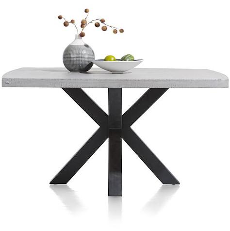 Maestro, dining table round 130 cm - concrete top-1