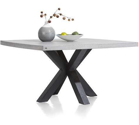 Maestro, table 150 x 150 cm - plateau beton