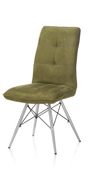 Milva, chaise - pietement inox design