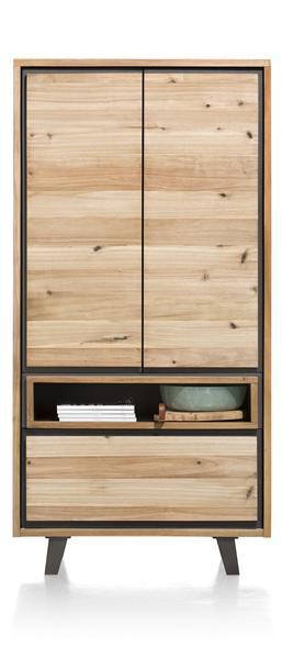 Prato, armoire 2-portes + 1-tiroir + 1-niche - 100 cm (+ LED)