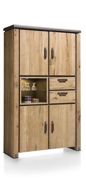 Farmland, armoire 4-portes + 2-tiroirs + 2-niches - 120 cm (+ LED)