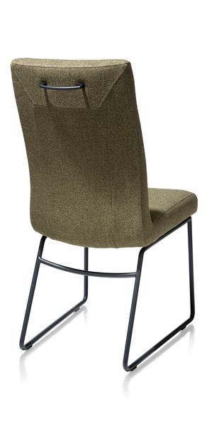 Malene, chaise - cadre tube noir - poignee rond