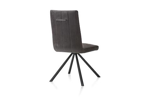 elza chaise 4 pieds noir tissu leopard anthracite. Black Bedroom Furniture Sets. Home Design Ideas
