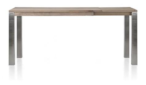 Masters, table bar a rallonge 160 (+ 60) x 90 cm - inox 9x9