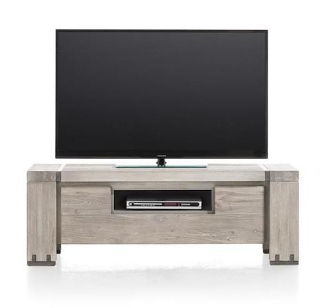 Avola, meuble tv 1-porte rabattante + 1-niche - 130 cm