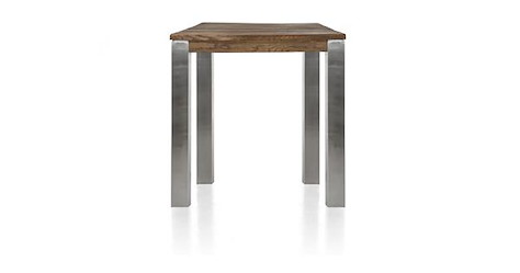 Masters, table de bar 90 x 90 cm - inox 9x9