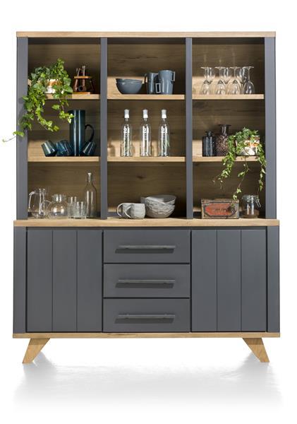 Jardin, vaisselier 2-portes + 3-tiroirs + 9-niches