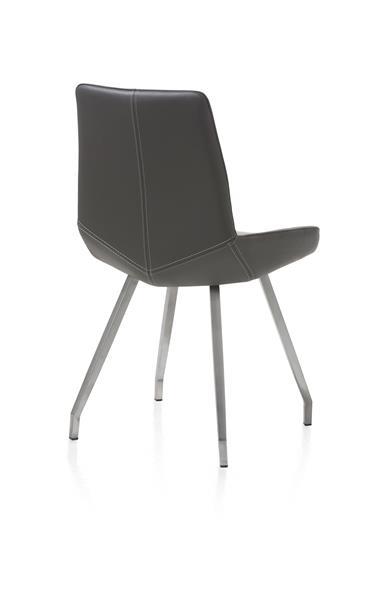 Levi, chaise - 4 pieds inox plie - cuir catania