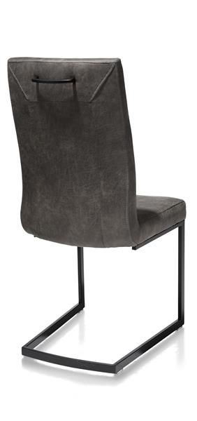 Malene, chaise - noir -pieds traineau rectangle +poignee rectangle-Secillia