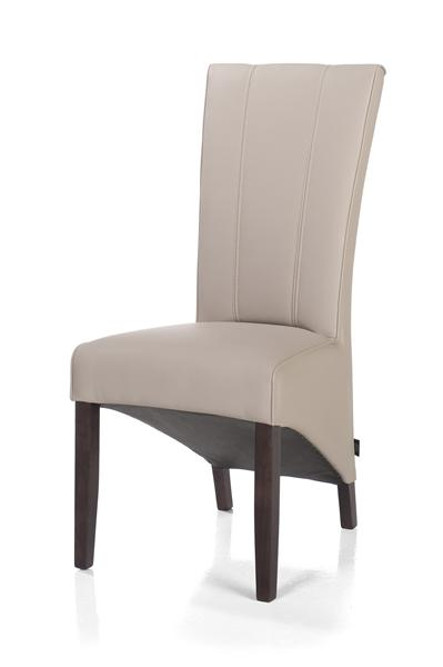 Lydia, dining chair - colonial leg + Moreno leather look taupe-1