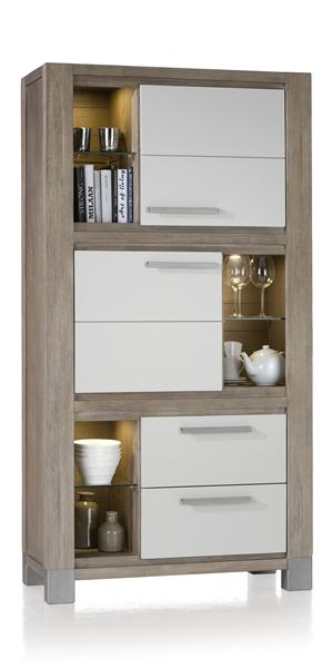 Kodiak, armoire 2-portes + 2-tiroirs + 6-niches - 190 cm haut-1