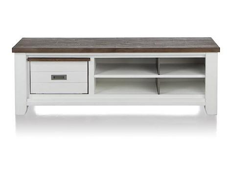 velasco meuble tv 1 corbeille 4 niches 160 cm