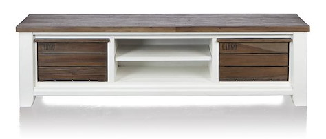Velasco, tv sideboard 2-baskets + 2-niches - 190 cm-1
