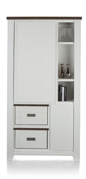 Velasco, armoire 2-portes + 3-niches + 2-boxen