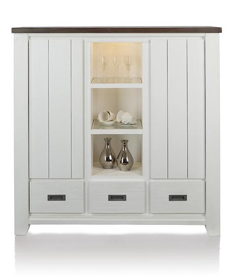 Velasco, highboard 2-portes + 3-tiroirs + 3-niches-1