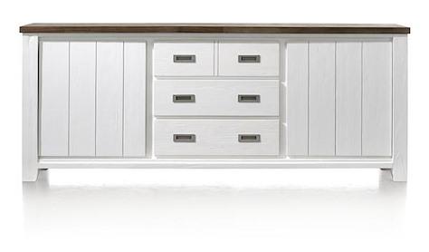 Velasco, buffet 2-portes + 3-tiroirs - 220 cm