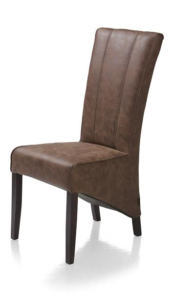 Lydia, dining chair - colonial leg + fabric Canyon cacao-1