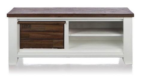 Velasco, meuble tv 1-corbeille + 2-niches - 130 cm-1